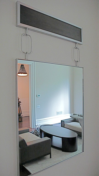 Ebony + Stainless Hanging Chain Mirror
