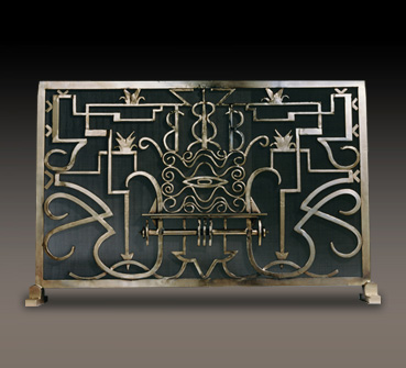 French Art Deco Fireplace Screen
