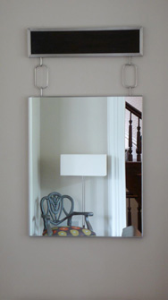 Hanging Chain Mirror with Ebony Header