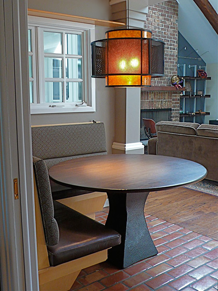 Hand Forged/Textured Pedestal Table Base @ Froy's Kitchen