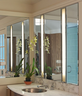 Lighting Diffusers for Evanston Bathroom