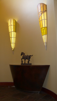 Ward�s Entry - 5 foot tapered Sconces